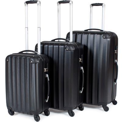 tectake 400717 sada 3 pevných cestovních kufrů - černá