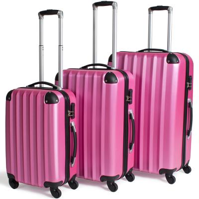 tectake 400719 sada 3 pevných cestovních kufrů - fuchsiová