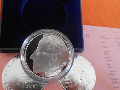 200 Kč, 2010, Gustav Mahler  proof - stav UNC