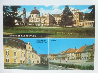 Jaroměřice nad Rokytnou, Mor. Budějovice, Jemnice, Třebíč