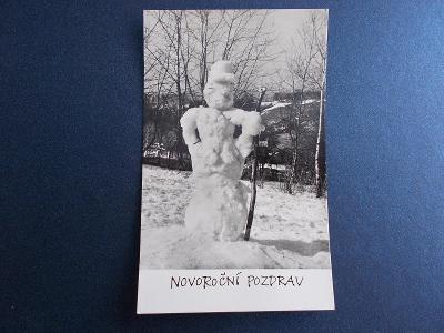 Svátek Vánoce zima Nový rok sněhulák Umělecká foto Erich Einhorn !!