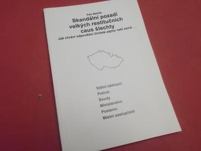 Kniha Skandální pozadí velkých restitucí caus šlechty / Petr Stehlík