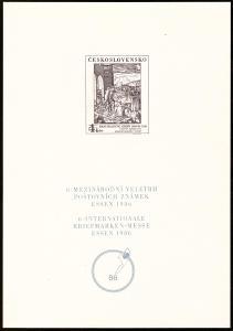POF. PT 16 - ČERNOTISK VELETRH ZNÁMEK ESSEN 1986 (T9905)