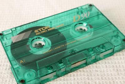 Audio Kazeta TDK D 90 Zelena