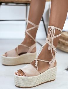 Dámské sandálky Campo barva beige vel.39