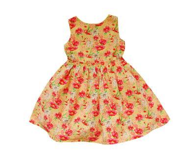 Plátěné květované šaty F&F 6-7let