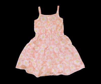 Plátěné lehounké šaty s kvítky Young Dimension 6-7let