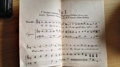 RARITA / Piesni na czesc sw Jozafata.... w Krakowie1868 / s noty