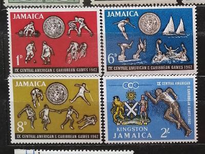 Jamajka 1962 - komplet, 9. karibské hry, sport