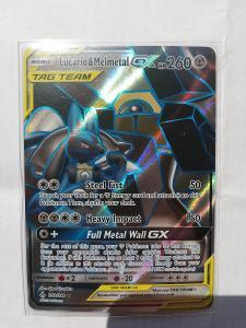 Pokémon tcg karta lucario & melmetal gx tag team full art