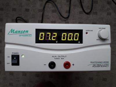 Spínaný laboratorní zdroj Manson SPS-9600 (1-15 V, 0-60 A)