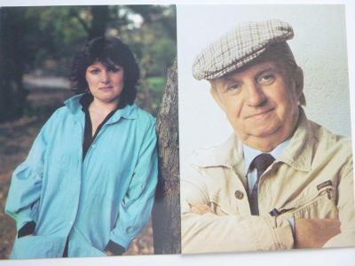 2 foto s legendou na zadní straně:  EVA SVOBODOVÁ / KAREL VLACH