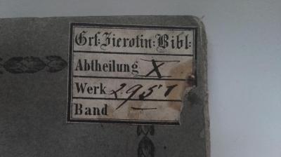 RARITA vzácná italská kniha z roku 1815 /   ex libris Graf ZIEROTIN /