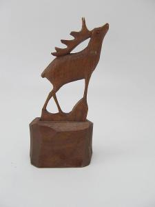 Stara retro Dřevěná soška jelen cca 70 leta