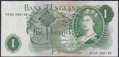 Anglie / England - 1 Libra - 1960-1977 - pěkný stav - aUNC