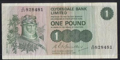 Scotland / Skotsko - 1 Libra - Clydesdale - 1979