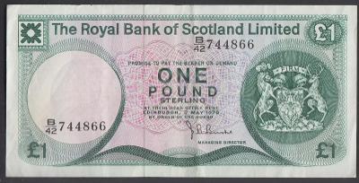 Skotsko - 1 Libra - 1978 - Royal Bank of Scotland