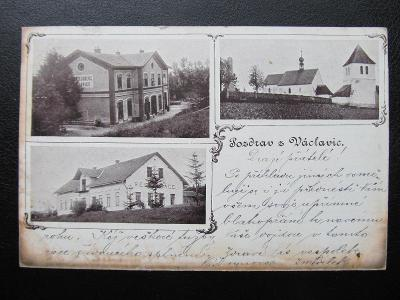 i4188 VÁCLAVICE Provodov okr. Náchod nádraží 1900