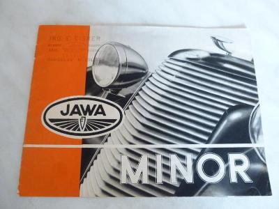 Jawa Minor - katalog - prospekt - propagační materiál