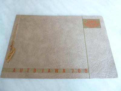 Auto Jawa 700 - katalog - prospekt - propagační materiál