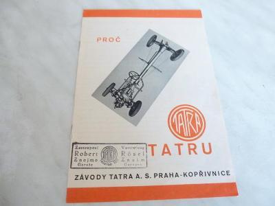 Tatra - katalog - prospekt - propagační materiál