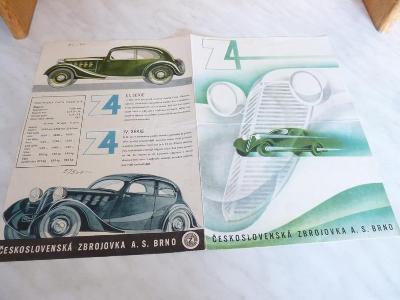 Auto Z - 4, Zbrojovka - katalog - prospekt - propagační materiál
