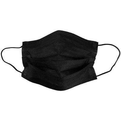 Jednorázová maska (černá), netkaná, 3-vrstvá
