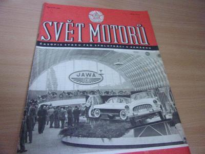 Starý časopis SVĚT MOTORŮ z 27. září roku 1957 luxusní stav- JAWA