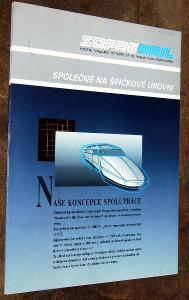 SOFRERAIL FRANCIE ŽELEZNICE BROŽURA PROPAGACE SNCF VLAK KOLEJE 1992