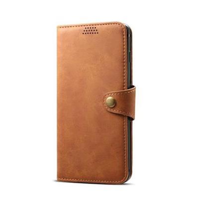 Lenuo Leather na Samsung Galaxy J6+, hnědá