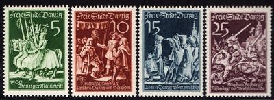 Danzig - Tag der Briefmarke 1939 - série komplet - Mi. 302 - 305 *