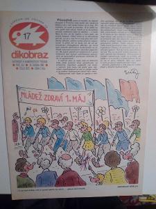 Časopis Dikobraz, č. 17/1985, pěkný stav