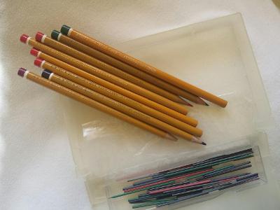 Tužky Barevné Inkoustové Kreslicí Potřeby KOH-I-NOR L&C HARDTMUTH ČSSR