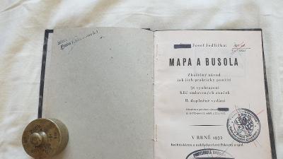 Škpt.Josef Jedlička-Mapa a Busola-1932-1.republika-vše o mapách
