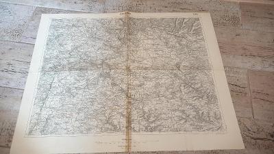 Stará vojenská mapa 1927-Rakovník-Kněževes-Žihle-Podbořany-Čistá-Kryry