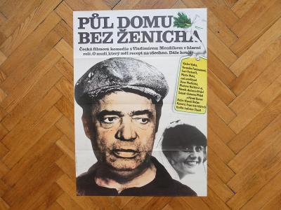 FOLL DOBROSLAV PŮL DOMU BEZ ŽENICHA 1980 MENŠÍK FILMOVÝ PLAKÁT A1