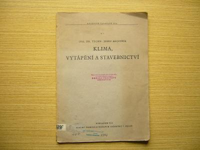 Josef Mejstřík - Klima, vytápění a stavebnictví | 1948