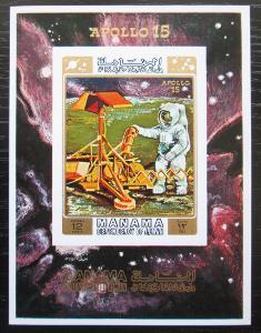 Manáma 1971 Apollo 15 neperf. Mi# Block 117 B Kat 20€ 1930