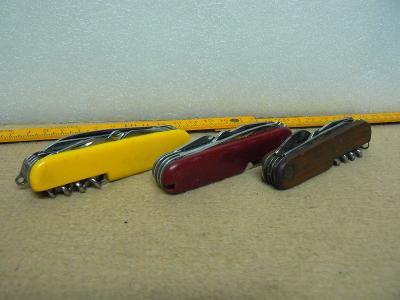 Nůž sběratelský konvolut na opravu nebo díly