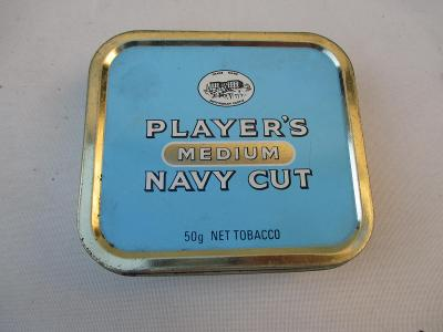 Plechová krabička od cigaret Player´s Medium Navy Cut