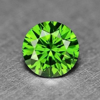 DIAMANT přírod. 0,10 ct, SI1 kulatý, zelený