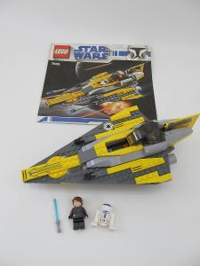 Lego set 7669 Star Wars Anakinova Jedi Starfighter navod - planek 2008