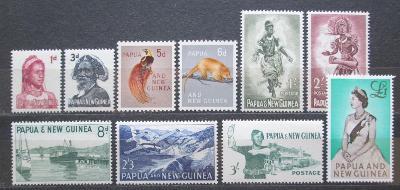 Papua Nová Guinea 1961-63 Různé motivy TOP SET Mi# 29-39 Kat 45€ 1932