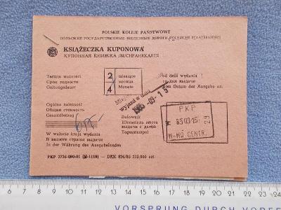 Jízdenka Vlak železnice dráha Polsko lístek Varšava Ostrava Petrovice