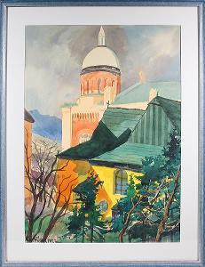Bedřich Kostřánek - Pohled na kostel