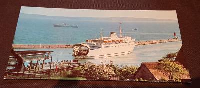 Pohlednice Saßnitz - loď
