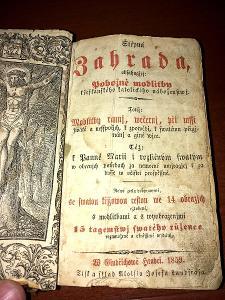 """Modlitební kniha """"Štěpná zahrada"""" 1859"""