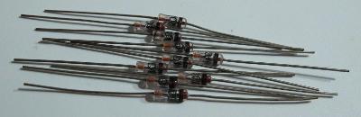 Nová germaniová hrotová dioda TESLA GA204 / sada 10ks