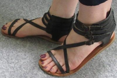 Kožené sandály Bianco vel. 38