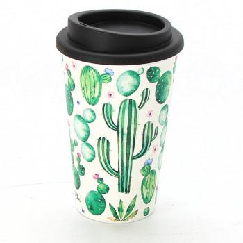 Cestovní termohrnek Albi - kaktusy